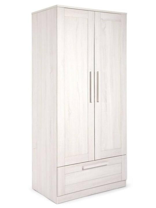 خزانة أطلس - لون أبيض شاحب image number 1