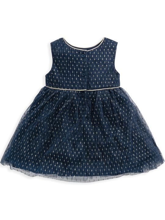 فستان من قماش دوبي شبكي image number 2