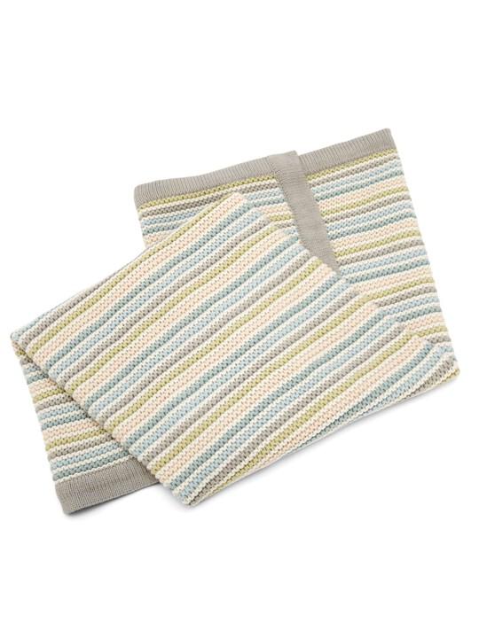 البطانية المعقودة الصغيرة - Stripe Pastel image number 4
