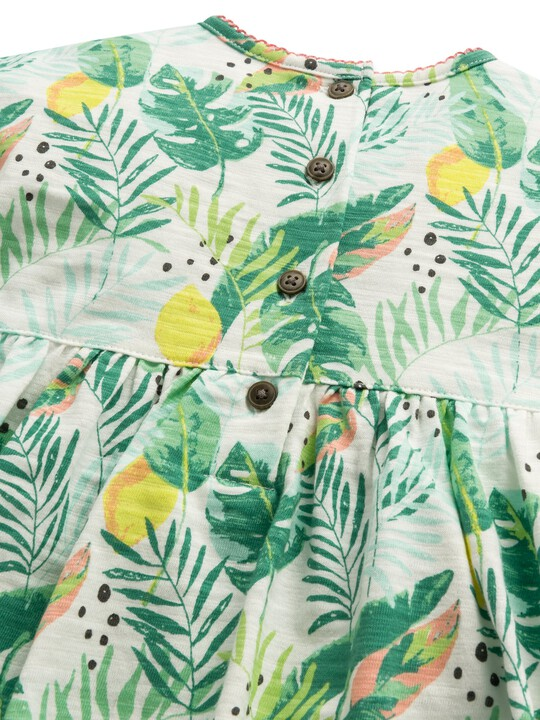 فستان جيرسيه بنقشة استوائية image number 4
