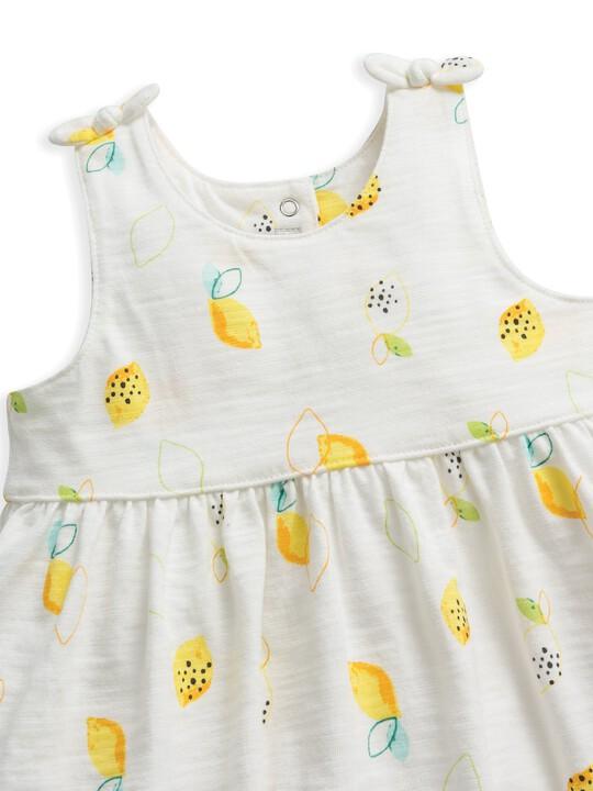 فستان جيرسيه بنقشة ليمون image number 3
