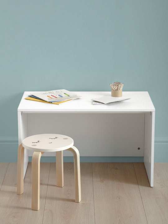 صندوق لوسون للتخزين يتحول لمكتب - أبيض / لون خشب طبيعي image number 6