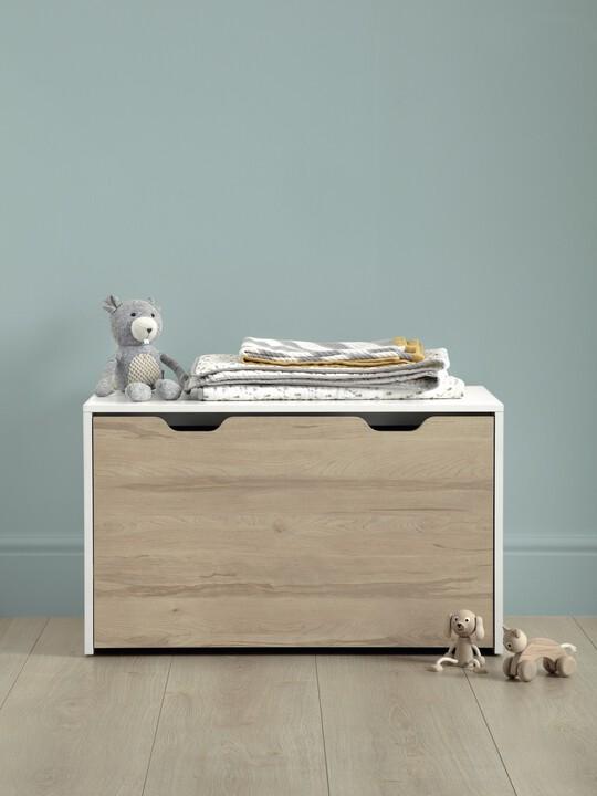 صندوق لوسون للتخزين يتحول لمكتب - أبيض / لون خشب طبيعي image number 2