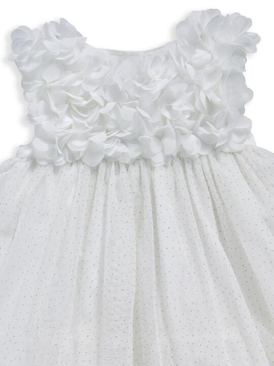 فستان مزين بزهور على الصدر image number 4
