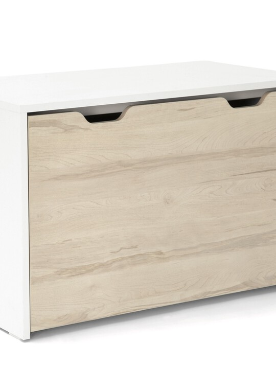 صندوق لوسون للتخزين يتحول لمكتب - أبيض / لون خشب طبيعي image number 1
