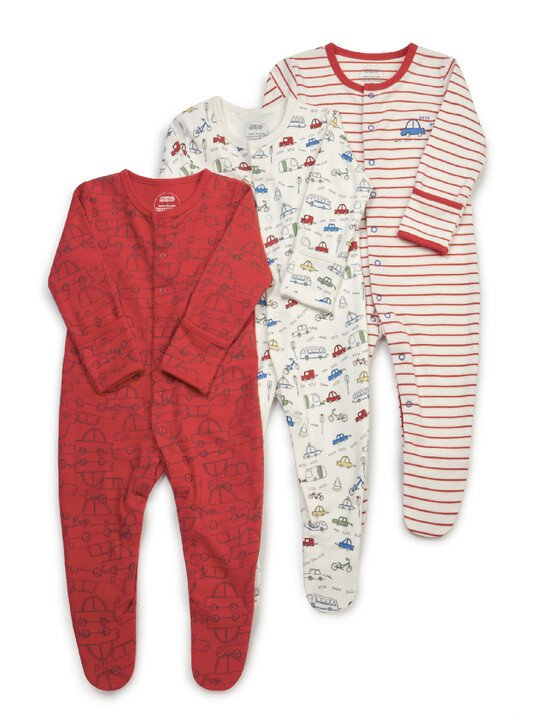 3PK TRANSPORT S/SUITS NB:Multi Colour:NEW:MULTI:NEW image number 1