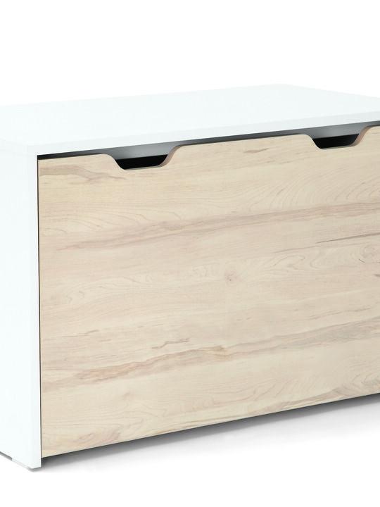 صندوق لوسون للتخزين يتحول لمكتب - أبيض / لون خشب طبيعي image number 5