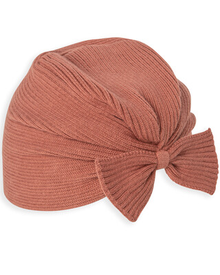 KNIT BOW HAT 3-6