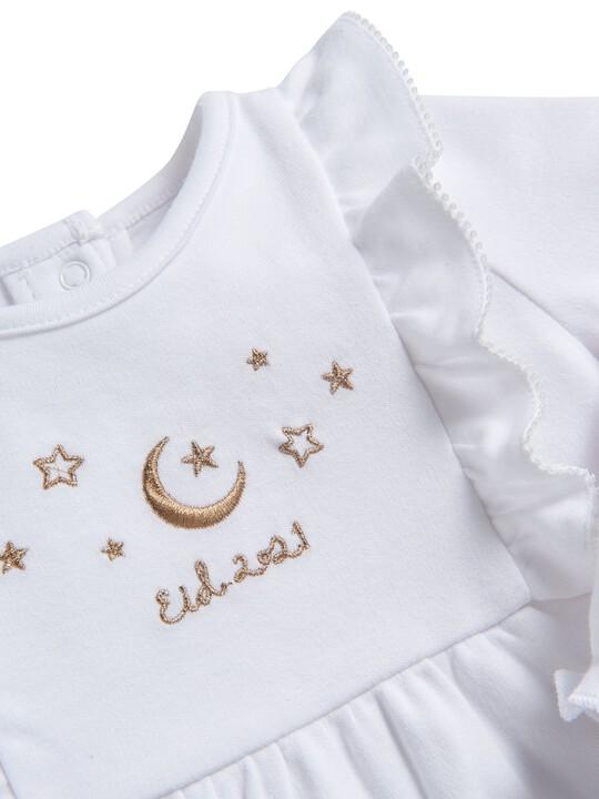 لباس الكل في واحد مطرز بكشكش image number 4