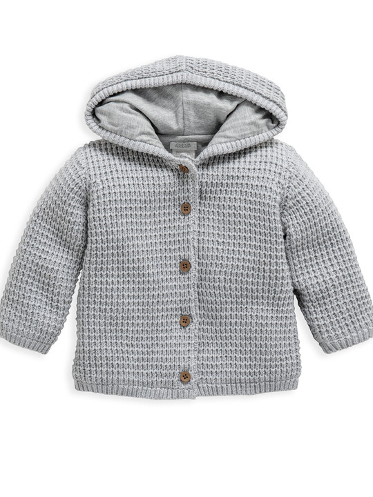 Grey Knitted Cardigan image number 1