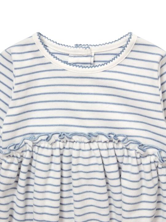 فستان جيرسيه مخطط image number 3