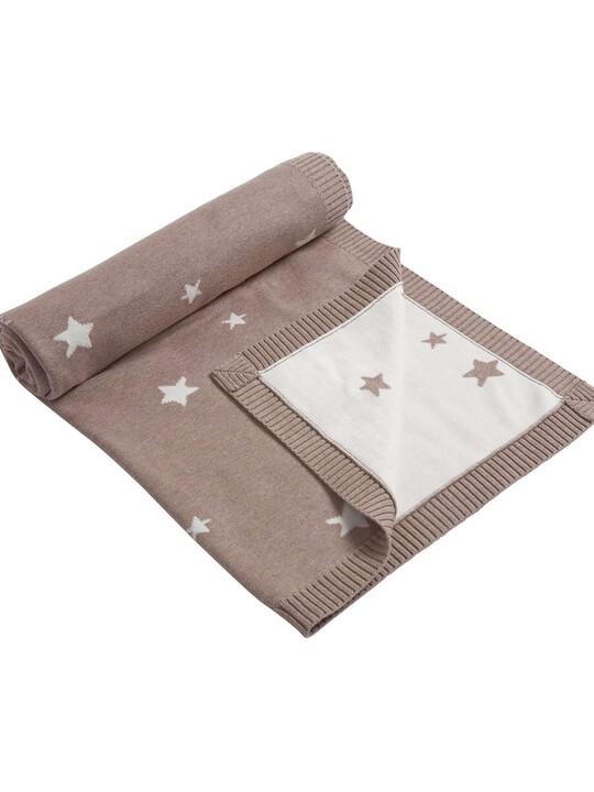 بطانية مغزولة نقشة النجوم - من Millie & Boris - 70 × 90 سم image number 2