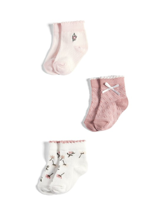 3 Pack of Floral Socks image number 1