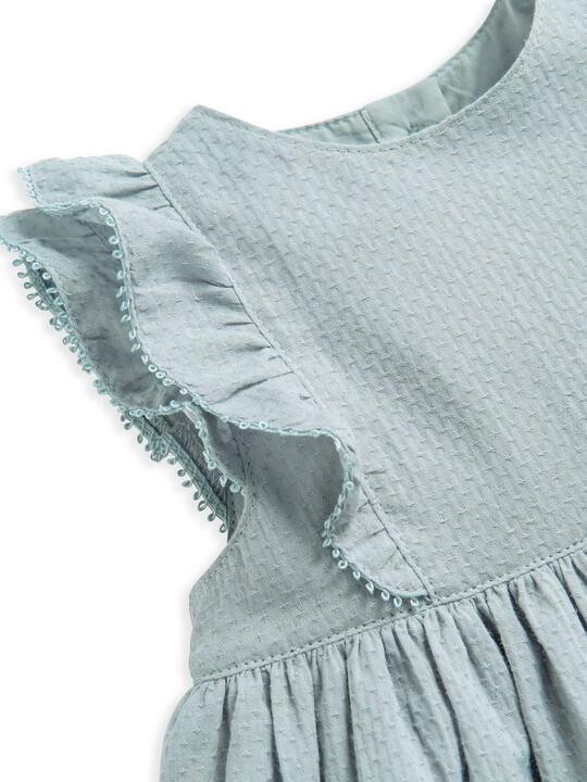 فستان منسوج بكشكش image number 3