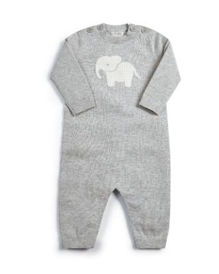 KNITTED CHARACTER RMPER NB:Grey:No Size