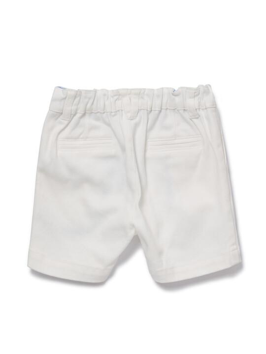White Chino Shorts image number 2