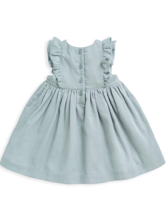 فستان منسوج بكشكش image number 5