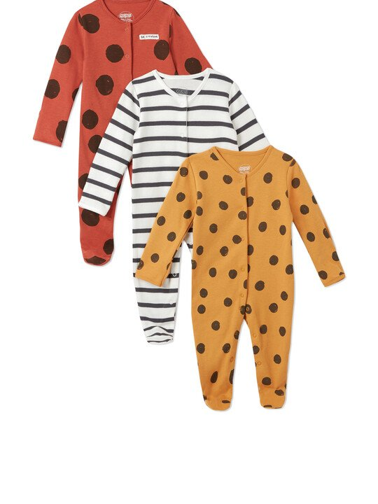 3Pack of  LARGE SPOT Sleepsuits image number 1