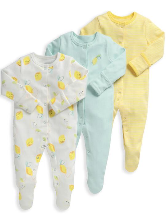 Lemon Sleepsuits 3 Pack image number 1