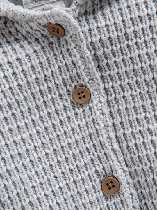 Grey Knitted Cardigan image number 3