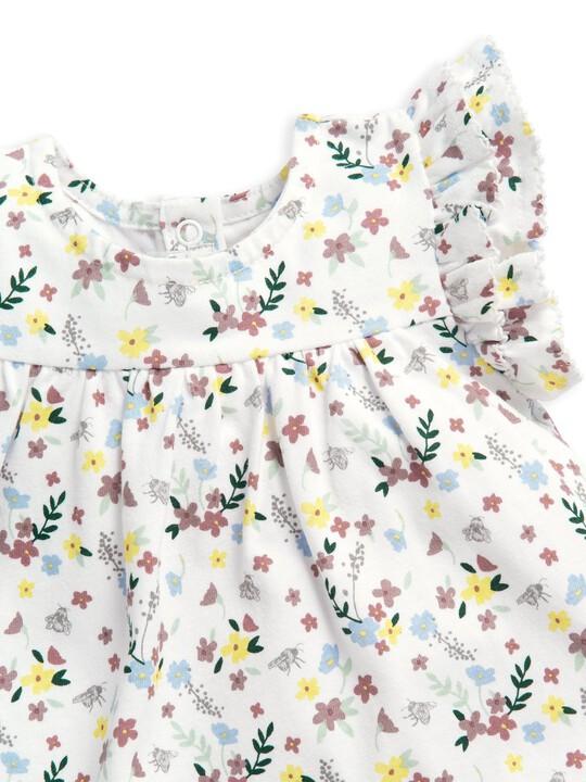 فستان جيرسيه بنقشة زهور image number 5