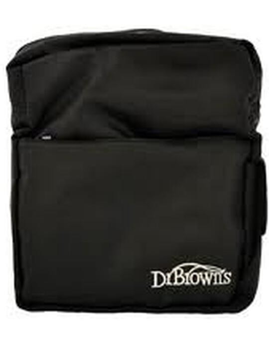 حقيبة زجاجات الرضاعة العازلة من دكتور براون- أسود image number 1