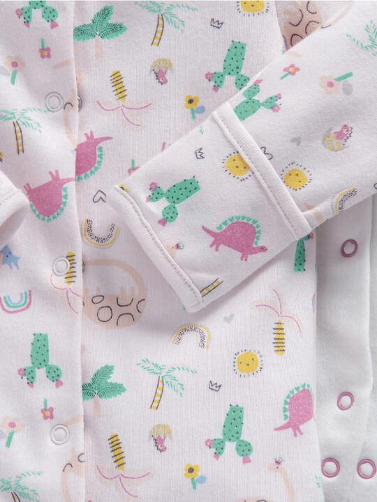 3PK GIRLS DINO S/SUITS PetiteNB:Multi Colour:PNew:MULTI:PNew image number 2