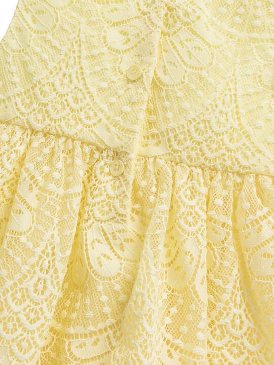 فستان دانتيل أصفر image number 2