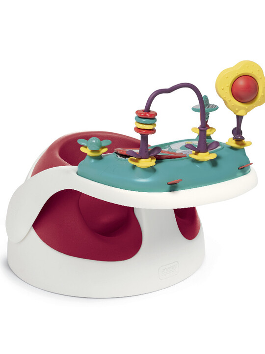 كرسي أطفال بصينية ألعاب - أحمر image number 2