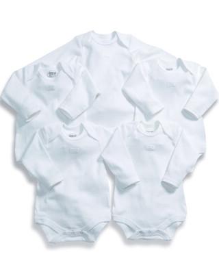 ألبسة قطعة واحدة بأكمام طويلة (عبوة مكونة من 5 قطع)
