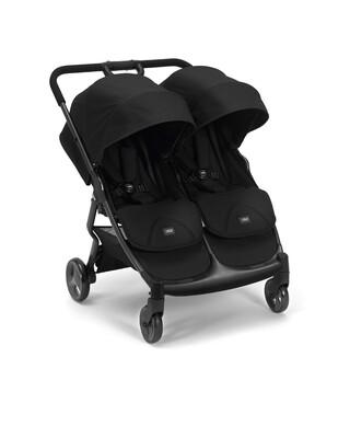 عربة أطفال أرماديللو مزدوجة قابلة للطيّ - أسود
