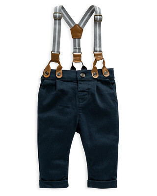 Navy Chino With Braces