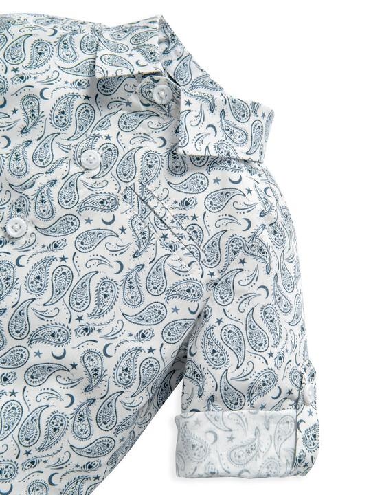 قميص بنقشة بيزلي متناثرة image number 3