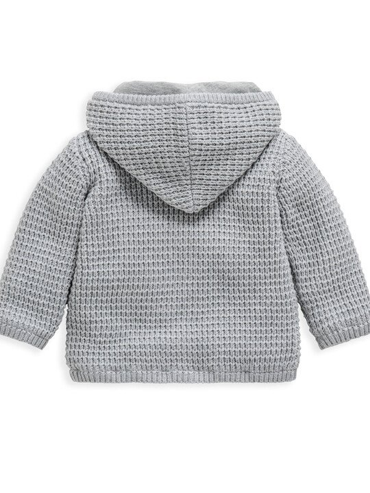 Grey Knitted Cardigan image number 2