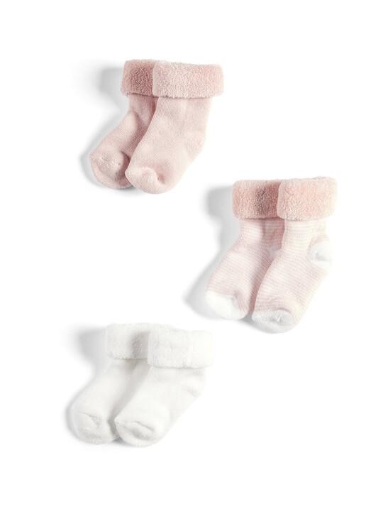 3 Pack of Pink Loopback Socks image number 1