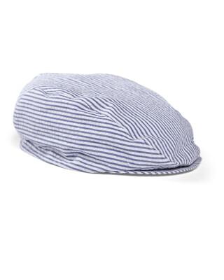 SEERSUCKER FLAT CAP