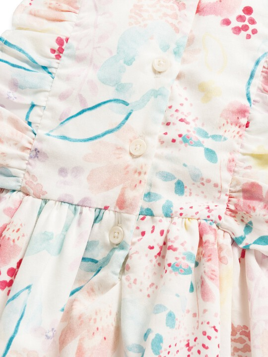 فستان بنقشة ألوان مائية image number 3
