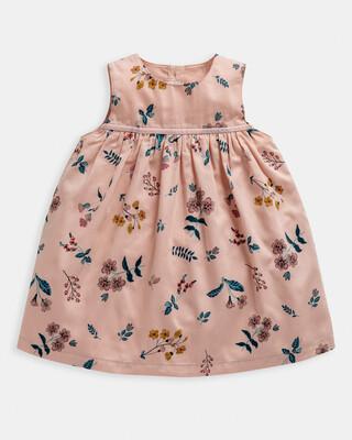 فستان منسوج بنقشة زهور