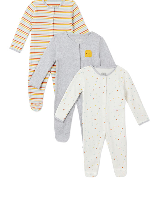 3Pack of  SHAPES Sleepsuits image number 1