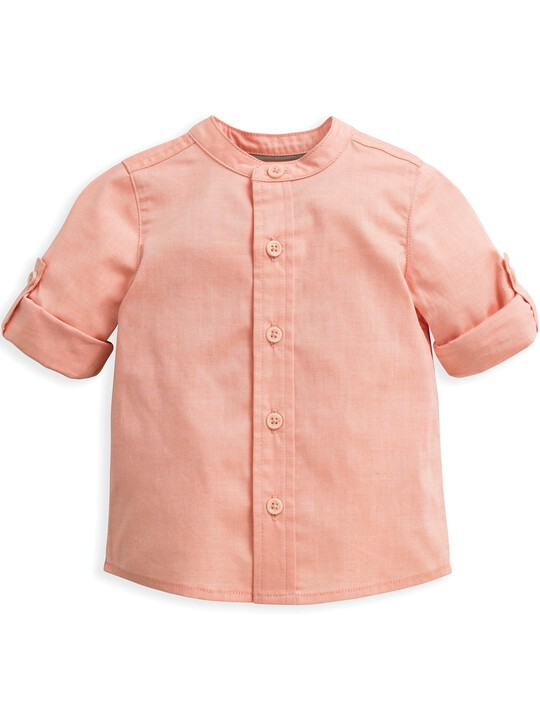قميص بلون وردي image number 1
