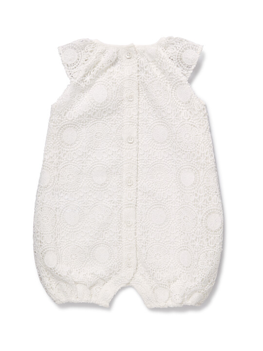White Lace Romper image number 2