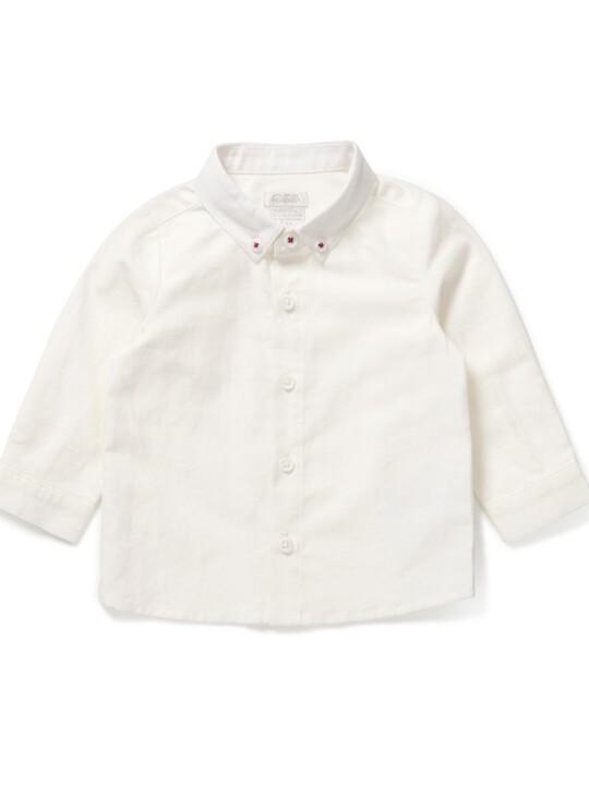 قميص أكسفورد أبيض image number 1
