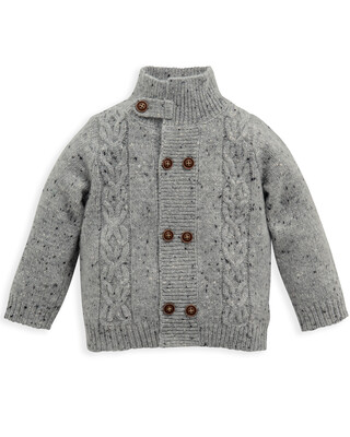 CABLE KNIT CARDI 0-3