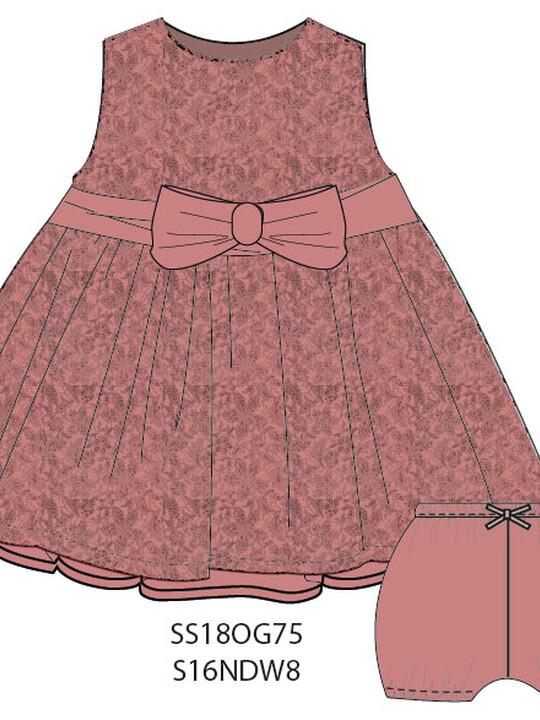 فستان دانتيل مزين بعقدة image number 5