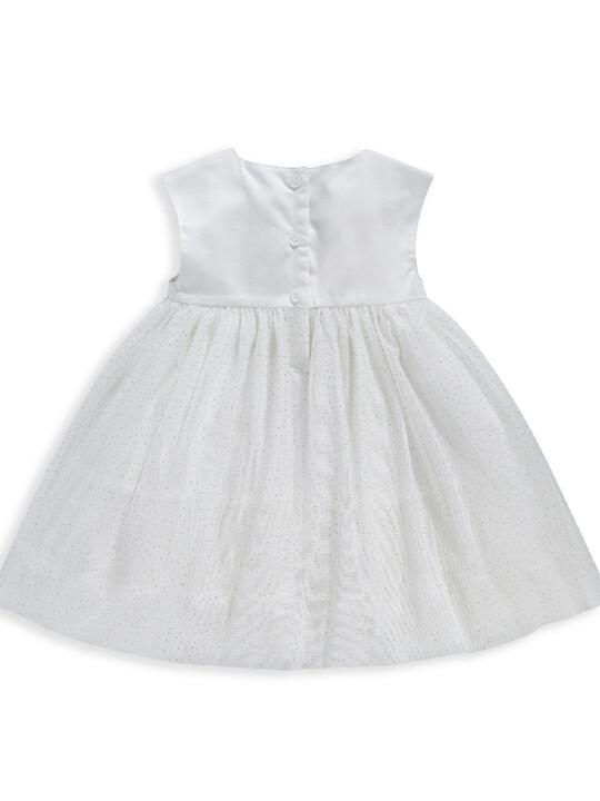 فستان مزين بزهور على الصدر image number 2