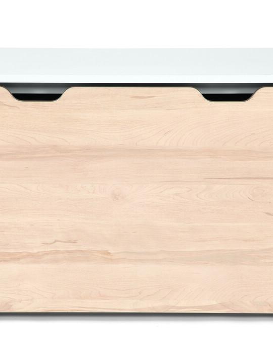 صندوق لوسون للتخزين يتحول لمكتب - أبيض / لون خشب طبيعي image number 7