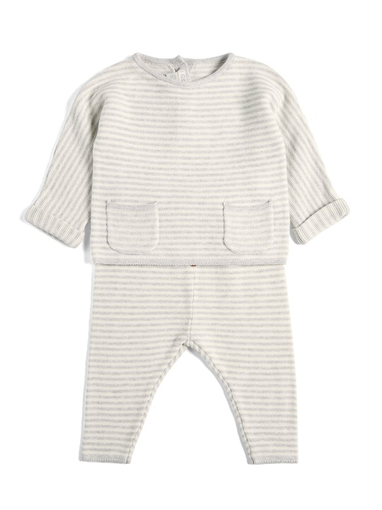 Striped Knitted Set - 2 Piece image number 1