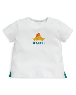 تي شيرت بطبعة سلحفاة وكلمة Habibi