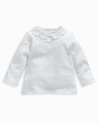 White Lace Collar T-Shirt