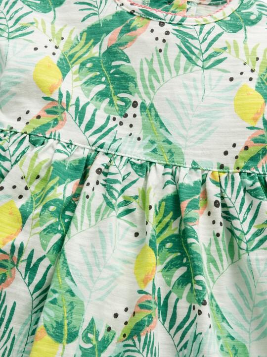 فستان جيرسيه بنقشة استوائية image number 5